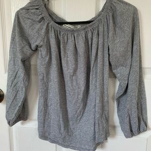 Abercrombie & Fitch Gray off the shoulder top